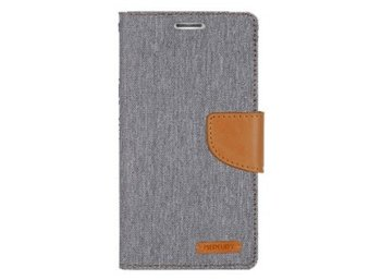 Mercury Etui CANVAS iPhone 5/5s/SE szaro/karmelowe, notes