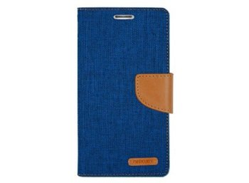 Mercury Etui CANVAS Xperia Z4 niebiesko/karmelowe, notes