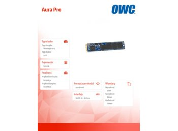 OWC Aura Pro SSD 120GB Macbook Air 2012 (501/503 MB/s, 60k IOPS) SYNC NAND