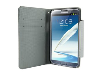 4world ETUI DO GALAXY NOTE 2 5.5'', STYLE SZARE
